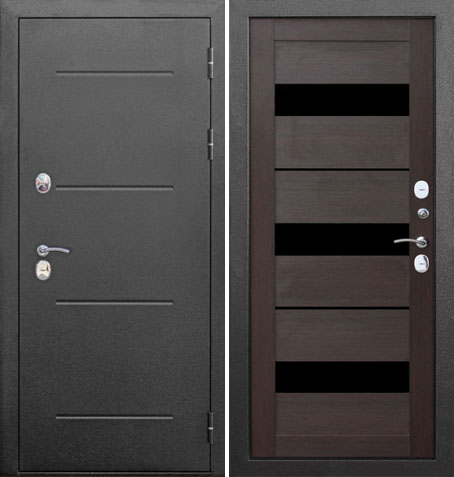 Входная дверь Термо-110 (Серебро/Кипарис тёмный): цены, характеристики, фото
